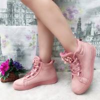 Ботинки с жемчужинами розовые A619-2 LSHI