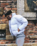 Куртка дутик стойка ворот white BN