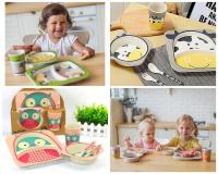 Набор детской посуды из бамбука 5 предметов