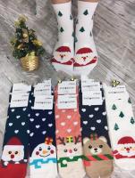 Высокие новогодние женские носки 639-1