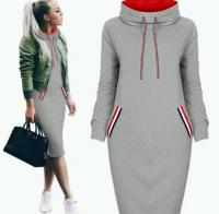 Спортивное платье св-серое двухнить H109