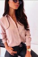 Рубашка с 1 карманом пудра A133