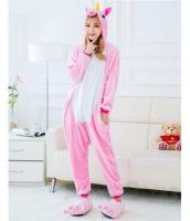 Кигуруми для взрослых пижамка Единорог розовый