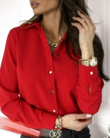 Рубашка с 1 карманом красная A133