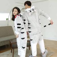 Кигуруми для взрослых пижамка Котенок Чи серый
