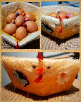 Корзинка для пасхальных яиц Курочка