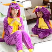 Кигуруми для взрослых пижамка Кигуруми фиалетовый дракон Спайро