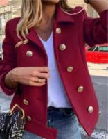 Короткое пальто драп бордо 116
