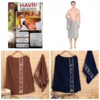 Набор мужской для сауны килт и полотенце