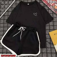 Костюм шорты и черная футболка сердечко SV