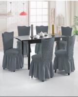 Комплект чехлов на стулья из 6 штук серый