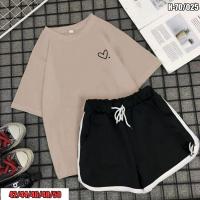 Костюм шорты и футболка каппучино сердечко SV