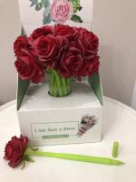 Гелевая ручка С цветком Роза красная ZF1821