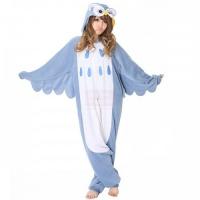 Кигурими пижамка Совушка для взрослых голубая