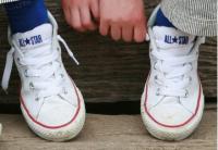 Детские кеды Con низкие на шнурках white RZ