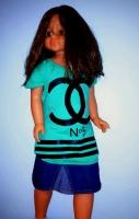 Детская футболочка CHL-бирюза