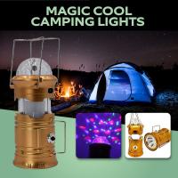 Складной кемпинговый фонарь-светильник с диско лампой Magic Cool