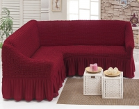 Чехол на угловой диван бордо