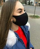 Маска Fashion спандекс черная
