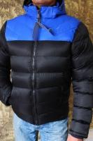 Мужская куртка NK яр-синий верх-черн низ