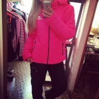 Теплый костюм лыжник NK с розовой курткой