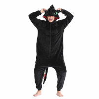 Кигуруми для взрослых пижамка Беззубик Черный Дракон