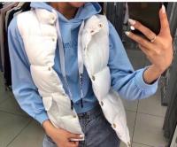 Жилет болонь с карманами white ZI BN