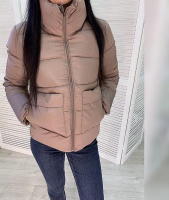 Куртка с крупными карманами каппучино ZI BN 25