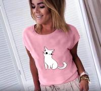 Футболка котенок розовая SV
