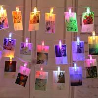 Новогодняя гирлянда ПРИЩЕПКИ цветные 4 метра
