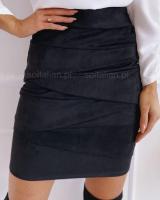 Юбка спандекс black A133/45