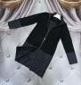 Комбинированное пальто кашемир+плащевка черное KH