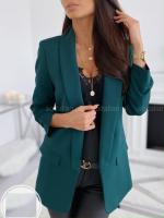 Пиджак с подкладкой спереди зеленый KH A133