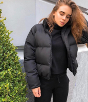 Куртка дутик стойка ворот black BN DIM
