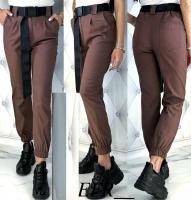 Стильные брюки с поясом shoko A133 K135