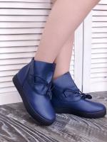 Полуботинки со шнурком  B20-1 синие RZ