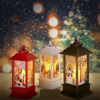 Фонарик Зимнее Волшебство 13 см со свечей внутри 03236110
