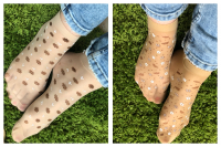 Эластичные носки в цветочек