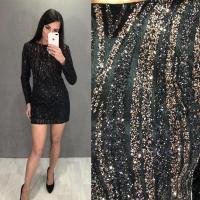 Платье с кофейными блестками LE