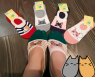 Невидимые носки с кошкой 616-11