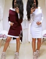 Двойка платье и туника бордо RH