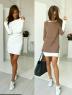 Двойка платье и туника пудрово-бежевая RH
