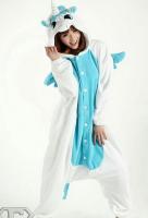 Кигуруми для взрослых пижамка Единорог белый с голубым