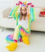 Кигуруми для взрослых пижамка Единорог радужная