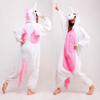 Кигуруми Единорог белый с розовыми крыльями( Пегас)