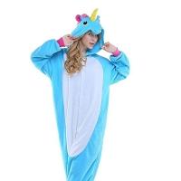 Кигурими для взрослых пижамка Единорог голубой
