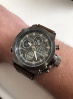 Часы AM-ST с ремешком под кожу