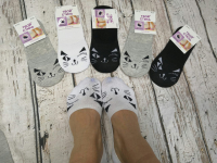 Невидимые носки подмигивающий котик 8541-94