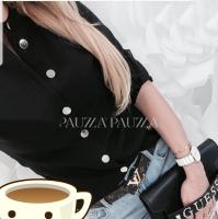 Рубашка лайт стойка ворот black A133