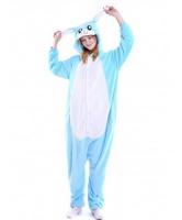 Кигуруми для взрослых пижамка голубой Зайка